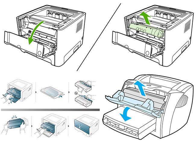 Принтер brother 2320 как поменять катридж